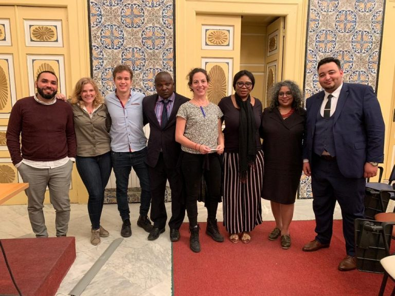 From Right: Daphne Tolis JIFORM Coordinator Greece (3rd); Abimbola Oyetunde, JIFORM President West Africa (4th), President JIFORM, Ajibola Abayomi (5th) with JIFORM members and other participants at World Migration Workshop for journalists held in Tunisia between December 9-12, 2019.